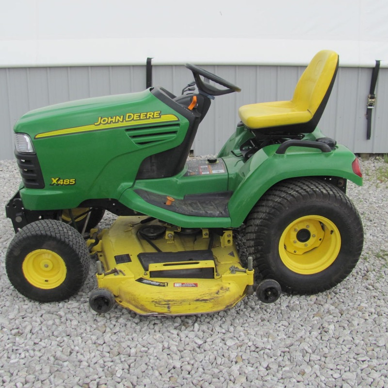Glascock equipment sales inc used john deere x485 for Used lawn and garden equipment