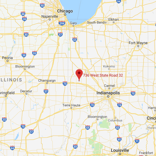 Glascock Equipment & Sales, Indiana Map